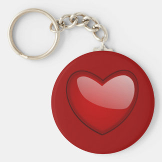 My Heart Basic Round Button Key Ring