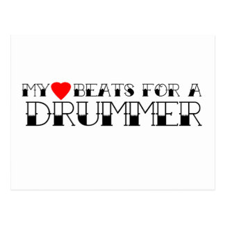 My Heart Beats For A Drummer Postcard