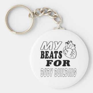 My Heart Beats For Body Building Keychains