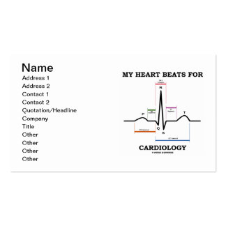 My Heart Beats For Cardiology (ECG/EKG) Double-Sided Standard Business Cards (Pack Of 100)