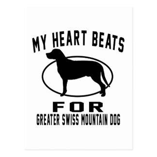 My Heart Beats For Greater Swiss Mountain Dog Postcard