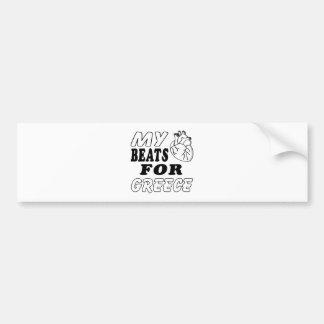 My Heart Beats For Greece. Bumper Sticker