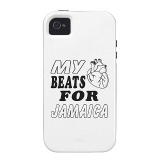 My Heart Beats For Jamaica Vibe iPhone 4 Cases