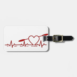 MY HEART BEATS FOR KAYAKING (CARDIOGRAM) LUGGAGE TAG