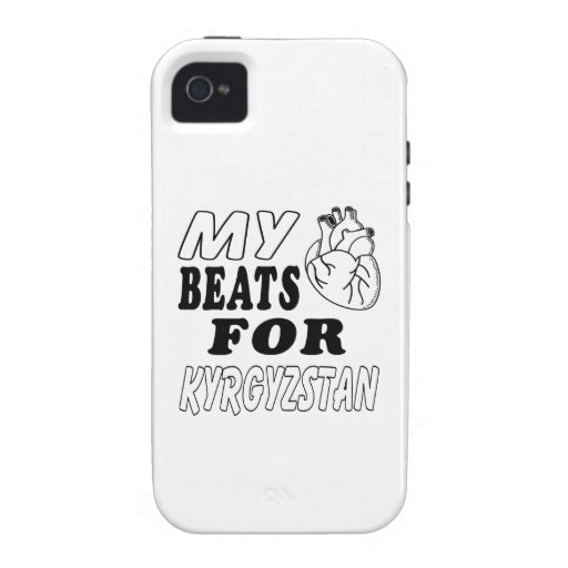 My Heart Beats For Kyrgyzstan. Vibe iPhone 4 Cover