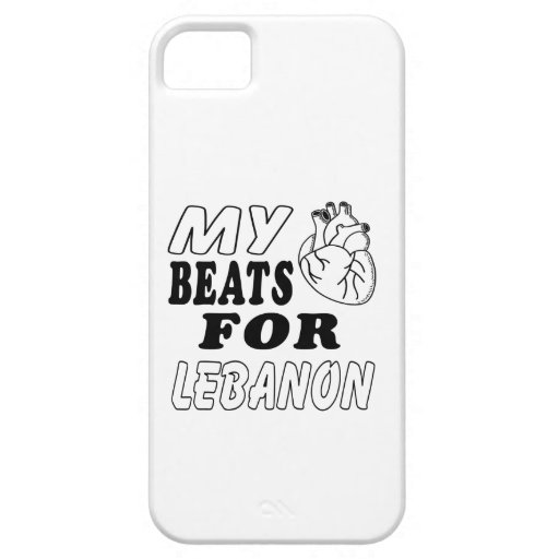 My Heart Beats For Lebanon. iPhone 5/5S Covers