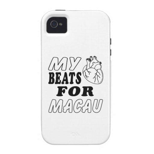 My Heart Beats For Macau Vibe iPhone 4 Covers