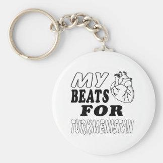 My Heart Beats For Turkmenistan. Keychain