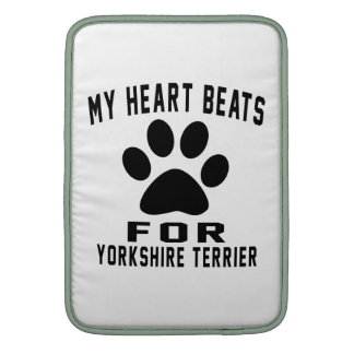 MY HEART BEATS FOR Yorkshire Terrier MacBook Air Sleeve