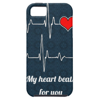 My heart beats for you and ECG iPhone 5 Case