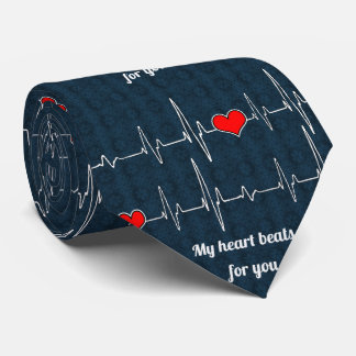 My heart beats for you and ECG Tie