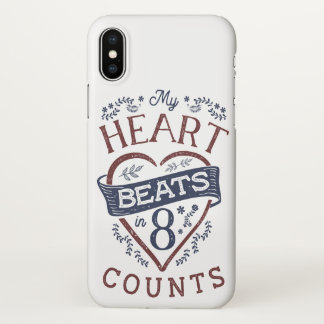 My Heart Beats in 8 Counts Dance iPhone X Case