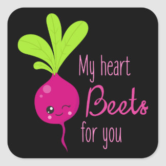 My Heart beets for you love word art sticker