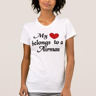 My heart belongs to a Airman T-Shirt