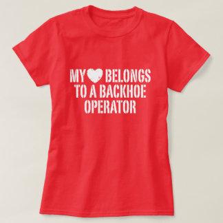 My Heart belongs To A Backhoe Operator T-Shirt
