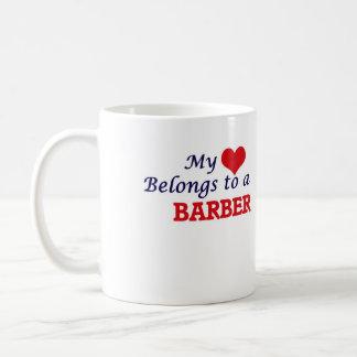 My heart belongs to a Barber Coffee Mug