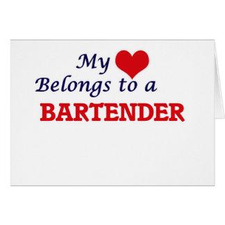 My heart belongs to a Bartender Card