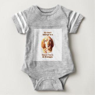My Heart Belongs To A Basset Fauve de Bretagne Baby Bodysuit