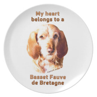 My Heart Belongs To A Basset Fauve de Bretagne Party Plate