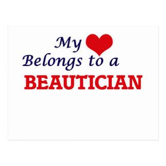 My heart belongs to a Beautician Postcard