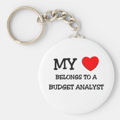 My Heart Belongs To A BUDGET ANALYST Key Chain
