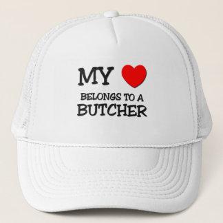 My Heart Belongs To A BUTCHER Trucker Hat