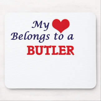 My heart belongs to a Butler Mouse Pad