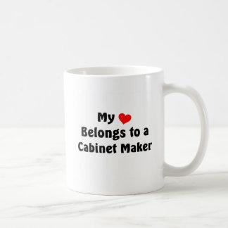 My heart belongs to a cabinet maker coffee mug