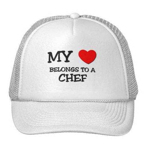 My Heart Belongs To A CHEF Trucker Hats