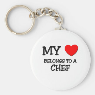 My Heart Belongs To A CHEF Key Chains