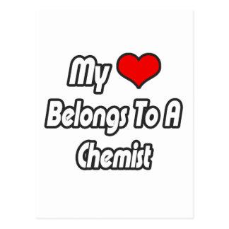 My Heart Belongs To A Chemist Postcard