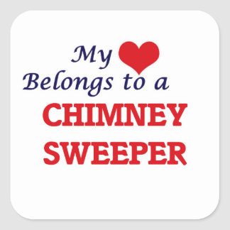 My heart belongs to a Chimney Sweeper Square Sticker