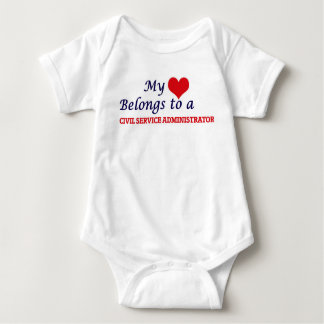 My heart belongs to a Civil Service Administrator Baby Bodysuit