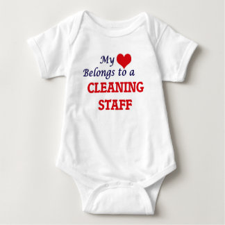 My heart belongs to a Cleaning Staff Baby Bodysuit
