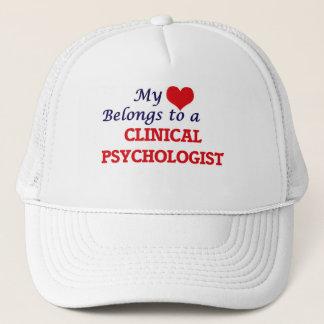 My heart belongs to a Clinical Psychologist Trucker Hat