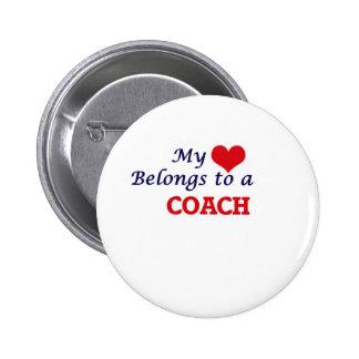 My heart belongs to a Coach 6 Cm Round Badge