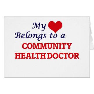My heart belongs to a Community Health Doctor Card