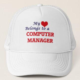 My heart belongs to a Computer Manager Trucker Hat