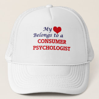 My heart belongs to a Consumer Psychologist Trucker Hat