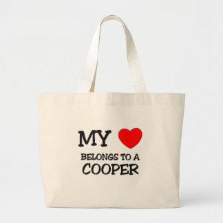 My Heart Belongs To A COOPER Jumbo Tote Bag