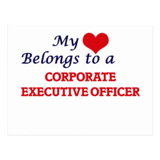 My heart belongs to a Corporate Executive Officer Postcard