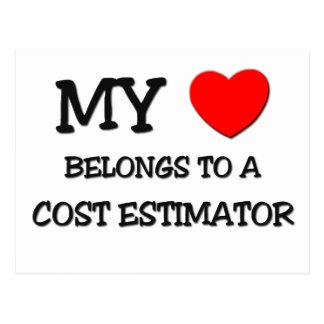 My Heart Belongs To A COST ESTIMATOR Postcards