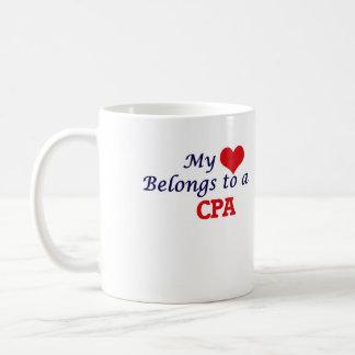 My heart belongs to a Cpa Coffee Mug