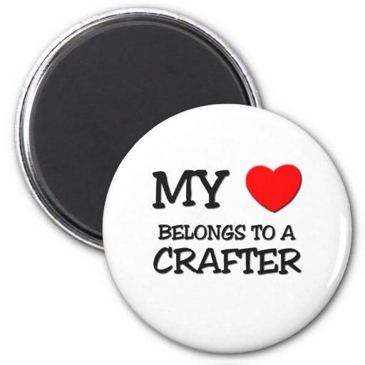 My Heart Belongs To A CRAFTER Fridge Magnets