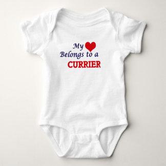 My heart belongs to a Currier Baby Bodysuit