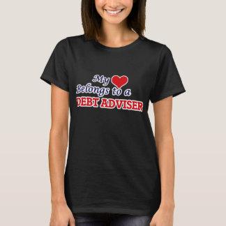 My heart belongs to a Debt Adviser T-Shirt