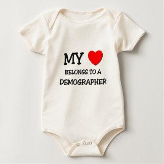 My Heart Belongs To A DEMOGRAPHER Baby Bodysuit