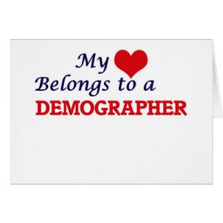 My heart belongs to a Demographer Card