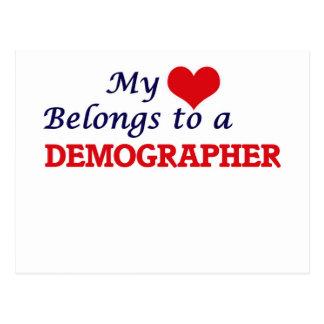 My heart belongs to a Demographer Postcard