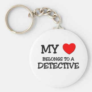 My Heart Belongs To A DETECTIVE Key Ring
